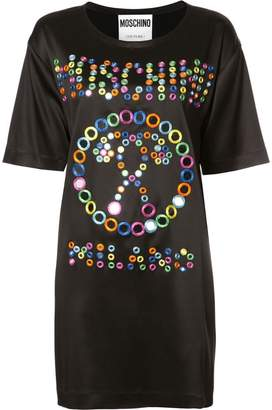 Moschino mirror embroidered logo dress