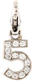 Chanel 18K Diamond No. 5 Crush Charm