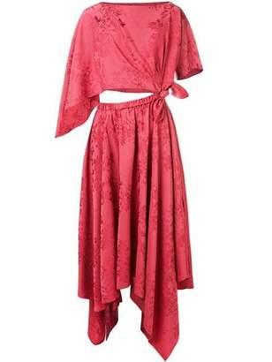 Rosie Assoulin Triangle Asymmetric Midi Dress