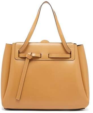 Loewe Lazo Knotted Leather Tote Bag - Womens - Beige