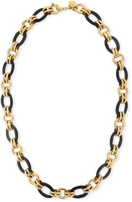 Ashley Pittman Ikulu Dark Horn & Bronze Chain Necklace, 36