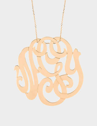 ginette_ny Rose Gold Monogram necklace