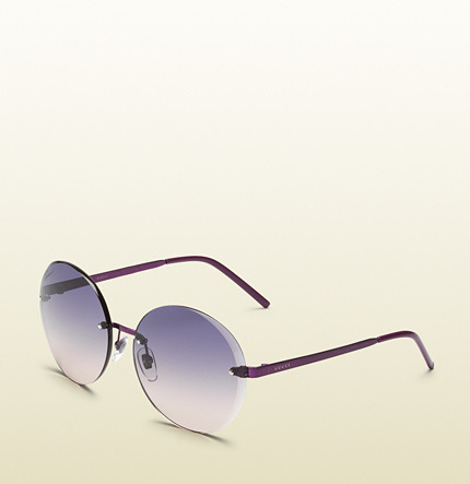Gucci Flora Round Rimless Sunglasses