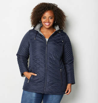 Avenue Navy Reversible Quilted Jacket