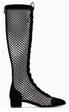 Christian Dior Fashion Concierge Vip NAUGHTILY-D LACE-UP BOOT IN BLACK MESH