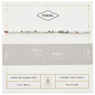 Fossil Howlite Beaded Bracelet jewelry