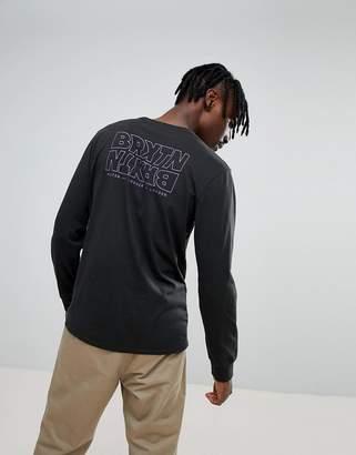 Brixton Vitus Long Sleeve T-Shirt With Back Print
