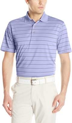 PGA TOUR Men's Golf Performance Air Flux Three Color Short Sleeve Polo Shirt