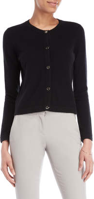 In Cashmere Toggle Long Sleeve Cashmere Cardigan