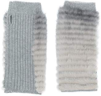 Agnona fingerless gloves