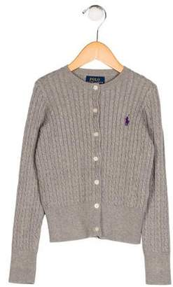 Polo Ralph Lauren Girls' Cable Knit Cardigan
