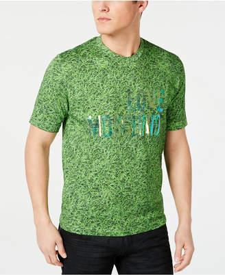 Love Moschino Men Grass Logo Graphic T-Shirt