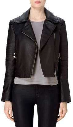 Women's J Brand Aiah Leather Moto Jacket