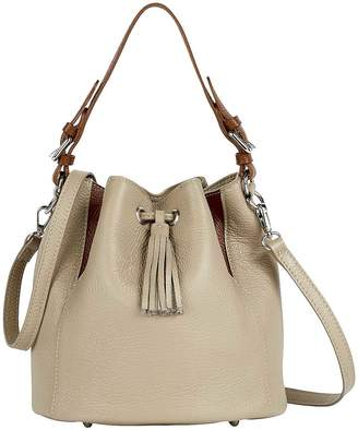 Kaleidoscope Italian Leather Bucket Bag