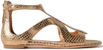 Alexander McQueen Leather Flat Sandal