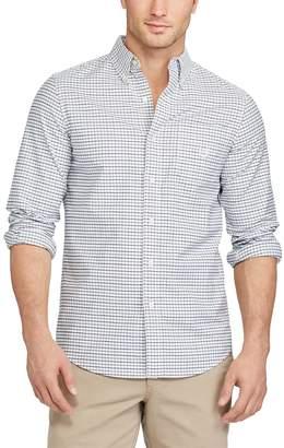 Chaps Men's Classic-Fit Plaid Stretch Oxford Button-Down Shirt
