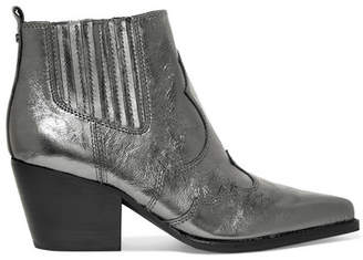 Sam Edelman Winona Metallic Textured-leather Ankle Boots