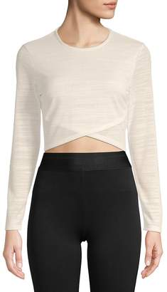 Plenty by Tracy Reese Women's Long-Sleeve Cropped Top