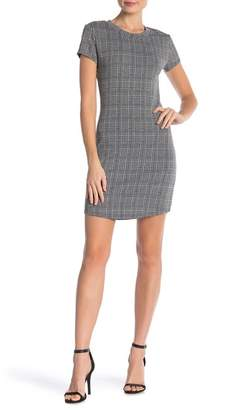 RD Style Houndstooth Plaid T-Shirt Dress
