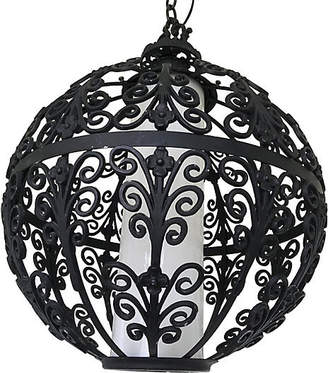 One Kings Lane Vintage Feldman Iron Globe Pendant