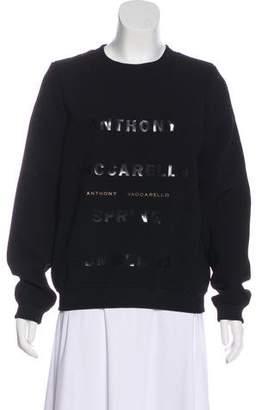 Anthony Vaccarello 2015 Logo Sweatshirt