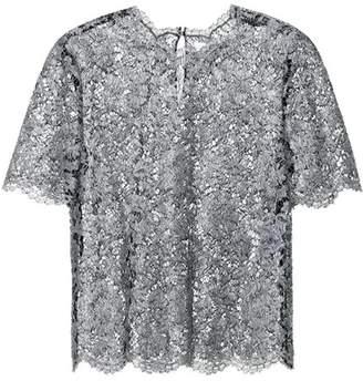 Valentino Metallic lace top