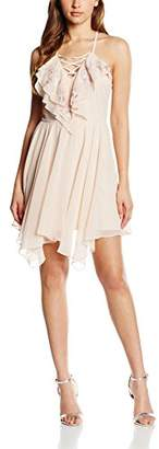 Lipsy Women's Ruffle Lace Up Dress