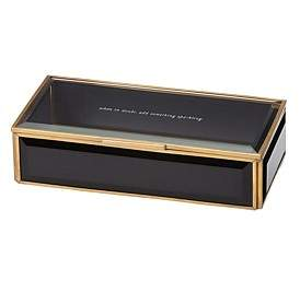 Kate Spade Crystal Giftware Jewel Box Black