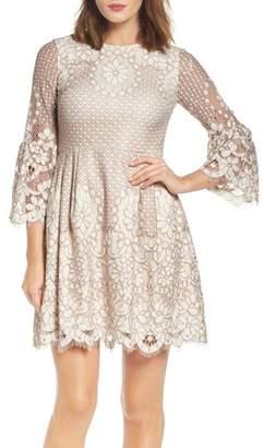 Eliza J Lace Fit & Flare Dress $158 thestylecure.com