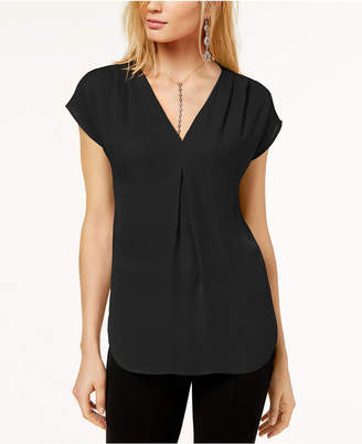 INC International Concepts I.n.c. Petite Pleated Top