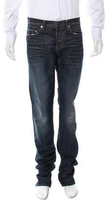 Christian Dior Distressed Slim-Fit Jeans