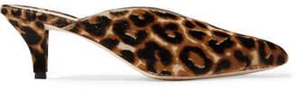 Loeffler Randall Juno Leopard-print Calf Hair Mules