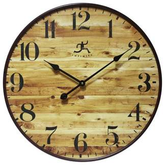 Infinity Instruments Eaglewood 24 diam. in. Wall Clock