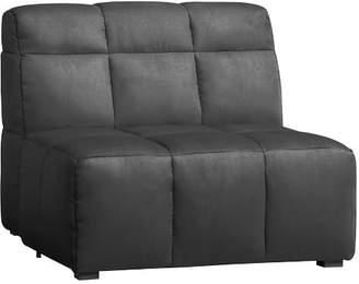Pottery Barn Teen Baldwin Lounge Armless Chair, Tweed Charcoal, IDS