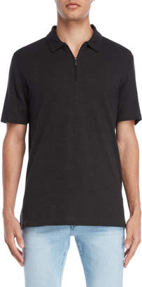 Perry Ellis Short Sleeve Quarter-Zip Neck Polo