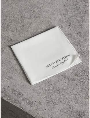 Burberry Cotton Silk Pocket Square