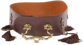 Moschino Vintage Brown Leather Belts