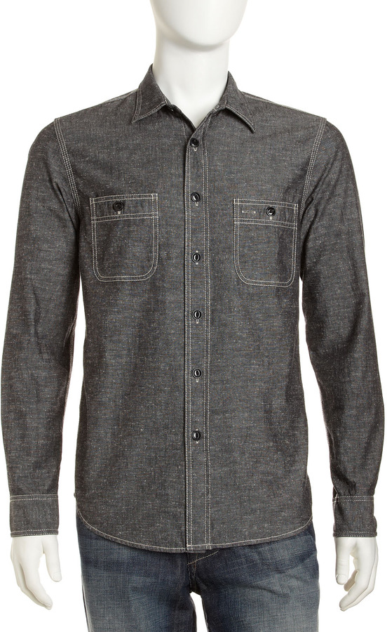 AG Adriano Goldschmied Edison Chambray Shirt