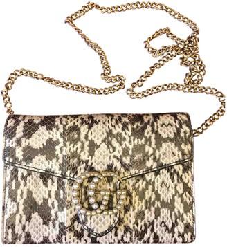 Gucci Multicolour Python Handbag