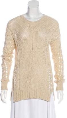 Vince Wool-Blend Knit Long Sleeve Sweater