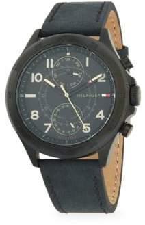 Tommy Hilfiger Leather-Strap Watch