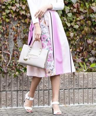 Queens Court (クイーンズ コート) - QUEENS COURT スカーフプリントタックフレアスカート