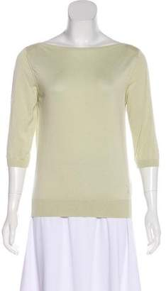 Louis Vuitton Three-Quarter Sleeve Knit Top