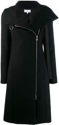 Patrizia Pepe off-centre zipped coat