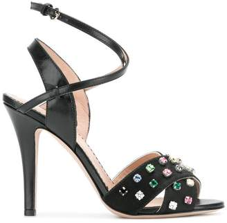 jewel embellished sandals - Black Red Valentino JFJhI