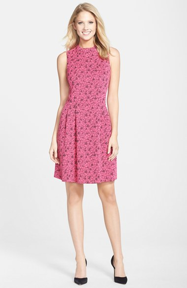 MARC NEW YORK by Andrew Marc Jacquard Fit & Flare Dress 4