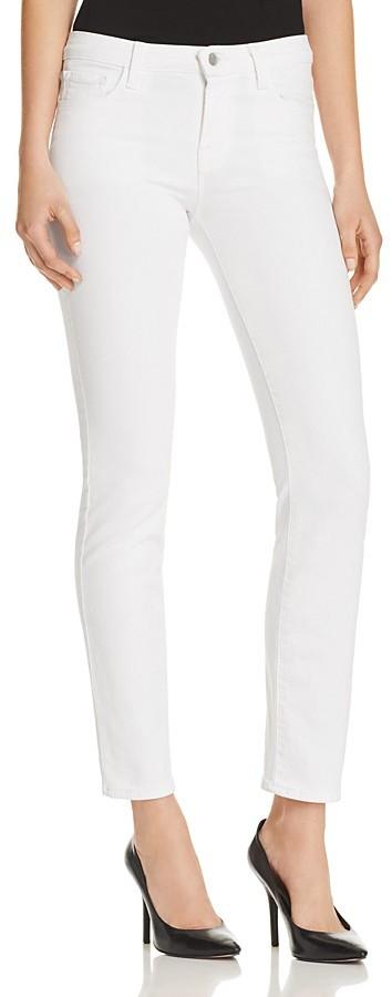 J BrandJ Brand Amelia Mid Rise Straight Jeans in Blanc
