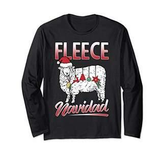 Fleece Navidad Spanish Christmas Sheep Long Shirt