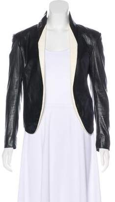 Theyskens' Theory Leather Structured Jacket