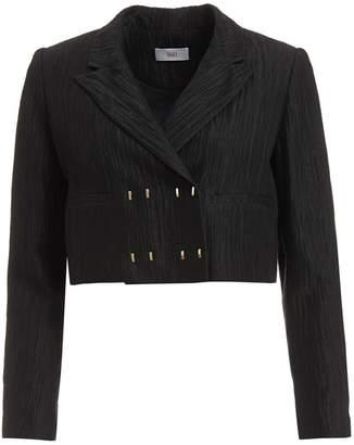WtR - WtR Black Linen & Silk Cropped Blazer Jacket